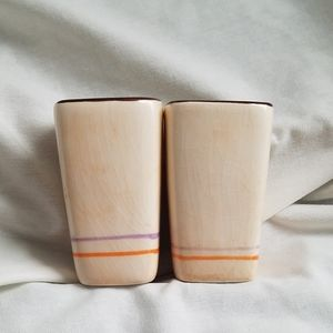 Signed Mexican Pottery Toothpick Holders, Noe Suro